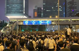 Protesters occupied major roads in Central Hong Kong on Wednesday to protest a bill that, if passed, would allow extraditions to jurisdictions with which HK has no treaty, including China./ Marlon Arenas/Eagle News/