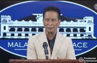 Presidential Spokesperson Salvador Panelo during the regular press briefing on Tuesday, June 6, 2019, in Malacanang.  (Photo grabbed from RTVM video)
