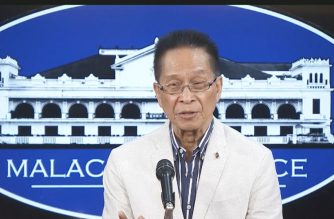 Presidential Spokesperson Salvador Panelo during a press briefing on Monday, June 3, 2019 in Malacanang.  (Photo grabbed from RTVM video/Courtesy RTVM)