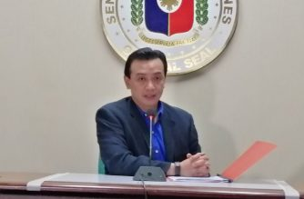 Senator Antonio Trillanes on Tuesday, June 11, presented what he said was evidence that would prove he had nothing to do with an ouster plot against President Rodrigo Duterte./Meanne Corvera/Eagle News/