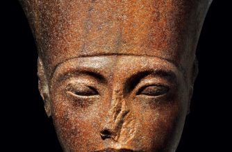 """An undated handout picture released by the auction house Christie's in London on June 26, 2019, shows a 3,000-year-old stone bust of Tutankhamun, set to be auctioned on July 4. - Christie's this week will auction a 3,000-year-old stone bust of Tutankhamun — the Egyptian pharaoh most simply call King Tut -- at the heart of a diplomatic tug-of-war with Cairo. The French-owned British auction house expects the 28.5-centimetre (11-inch tall) brown quartzite relic from the Valley of the Kings to fetch more than £4 million ($5.1 million, 4.5 million euros) in London on Thursday. But Egyptian authorities overseeing the north African country's unparallelled collection of antiquities want the sale halted and the art treasure returned. (Photo by HO / various sources / AFP) / RESTRICTED TO EDITORIAL USE - MANDATORY CREDIT  """" AFP PHOTO / Handout / CHRISTIE'S AUCTION HOUSE""""  -  NO MARKETING NO ADVERTISING CAMPAIGNS   -   DISTRIBUTED AS A SERVICE TO CLIENTS"""