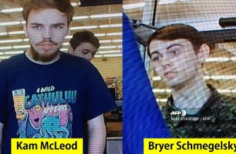 "(FILES) In this file photo taken on July 23, 2019 The Royal Canadian Mounted Police released photos on July 23, 2019 of Kam McLeod, 19, and Bryer Schmegelsky, 18, from Port Alberni, British Columbia, who are considered main suspects in the slayings of 23-year-old Australian Lucas Fowler, and his American girlfriend Chynna Deese, 24, who were discovered shot to death on July 15 along the side of the Alaska Highway near Liard Hot Springs, British Columbia. - The Royal Canadian Air Force is joining the hunt for the two fugitive teens suspected of triple murder, officials said on July 27, 2019, backing up a vast search operation unfolding in the country's remote northeast. (Photo by ALBERTA RCMP / AFP PHOTO/ HANDOUT ""ROYAL CANADIAN MOUNTED POLICE"")"