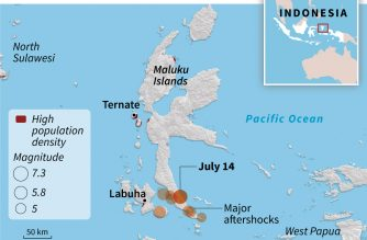 Two die, thousands flee after 7.3 quake in Indonesia