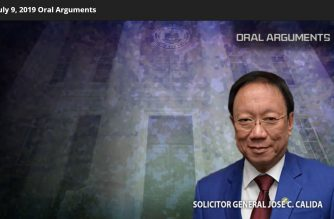A screen grab of the Supreme Court website showing the video with the audio of oral arguments of the Writ of Kalikasan case.  (Photo courtesy Supreme Court website)