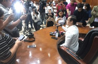 Manila City Mayor Isko Moreno speaking to reporters on Thursday, July 11, 2019.  (Photo courtesy Manila Public Information Office)