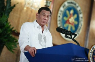 President Rodrigo Duterte delivers his speech during the Government-Owned and Controlled Corporations (GOCC) Day at the Malacañan Palace on July 11, 2019. ALBERT ALCAIN/PRESIDENTIAL PHOTO