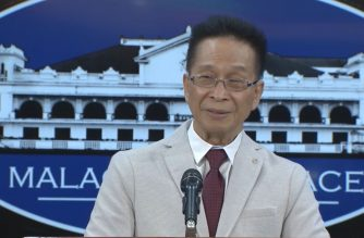 Presidential Spokesperson Salvador Panelo during the press briefing in Malacanang on Monday, July 15, 2019.  (Photo grabbed from RTVM video)