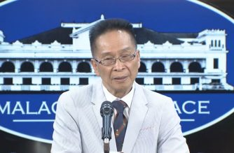 Presidential Spokesperson Salvador Panelo during his press briefing on July 2, Tuesday, in Malacanang.  (Photo grabbed from RTVM video/Courtesy RTVM)