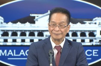 Presidential Spokesperson Salvador Panelo holds a press briefing on July 4, 2019.  (Eagle News Service)