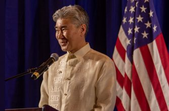 US AMbassador Sung Kim during the reception on July 3, 2019 for the pre-US Independence day celebration and the US-Philippine Friendship Day commemoration. (Photo courtesy US embassy twitter/https://twitter.com/USEmbassyPH)