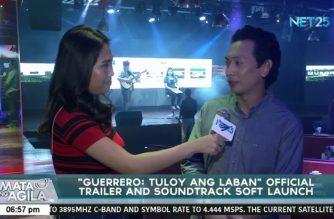 """Official trailer at soundtrack ng """"Guerrero Dos: Tuloy ang Laban,"""" ipinalabas sa """"soft launch"""""""