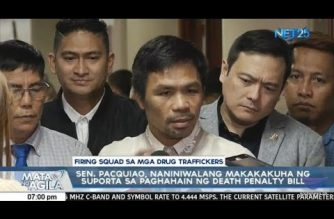 Pacquiao believes return of death penalty will pass hurdles in Senate, House