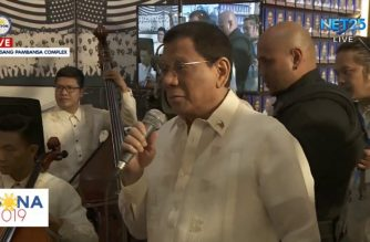 "President Duterte sings ""Ikaw,"" ""Moon River"" with PHL Philharmonic Orchestra after grueling SONA"