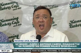 "Roque says Justice Carpio ""politicking"" on West PHL Sea issue; tells him to resign, run for public office instead"