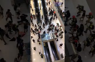 Watch: (Eagle News video) Hong Kong clashes that turned violent inside a mall as protests vs extradition bill continue