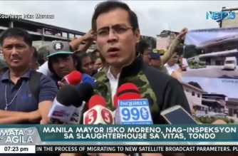Watch: Manila Mayor Moreno inspects filthy Vitas slaughterhouse, vows to make changes