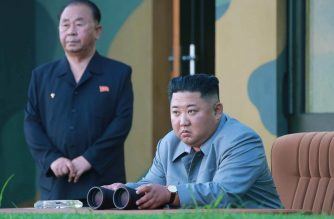 "This picture taken on July 25, 2019 and released by North Korea's official Korean Central News Agency (KCNA) on July 26 shows North Korea's leader Kim Jong Un watching as a new-type of tactical guided short-range missile is launched at an undisclosed location in North Korea. - North Korea said on July 26 that two missiles fired under the supervision of leader Kim Jong Un the day before were newly designed tactical weapons that sent a ""solemn warning"" to the South over plans to hold military drills with the United States. (Photo by KCNA VIA KNS / KCNA VIA KNS / AFP) / South Korea OUT / REPUBLIC OF KOREA OUT ---EDITORS NOTE--- RESTRICTED TO EDITORIAL USE - MANDATORY CREDIT ""AFP PHOTO/KCNA VIA KNS"" - NO MARKETING NO ADVERTISING CAMPAIGNS - DISTRIBUTED AS A SERVICE TO CLIENTS / THIS PICTURE WAS MADE AVAILABLE BY A THIRD PARTY. AFP CAN NOT INDEPENDENTLY VERIFY THE AUTHENTICITY, LOCATION, DATE AND CONTENT OF THIS IMAGE --- /"