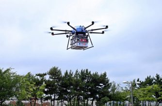"This handout photo from South Korea's Interior and Safety Ministry taken and released on July 31, 2019 shows a drone flying during a test operation for a public drone delivery system in Dangjin. - The system is used by local government agencies to send relief goods or public service-related mail and parcels to remote mountain and island villages. (Photo by handout / SOUTH KOREA'S INTERIOR AND SAFETY MINISTRY / AFP) / -----EDITORS NOTE --- RESTRICTED TO EDITORIAL USE - MANDATORY CREDIT ""AFP PHOTO / SOUTH KOREA'S INTERIOR AND SAFETY MINISTRY"" - NO MARKETING - NO ADVERTISING CAMPAIGNS - DISTRIBUTED AS A SERVICE TO CLIENTS"