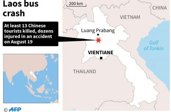 13 Chinese tourists killed as bus plunges into ravine in Laos