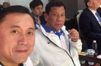 In photo: Duterte, Go strike a pose while watching Gilas game vs Italy