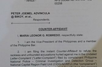 Robredo on sedition raps: I was in Bulacan the entire day during my supposed meeting with Advincula in Ateneo
