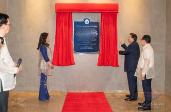 Iglesia Ni Cristo (Church Of Christ) Executive MInister Brother Eduardo V. Manalo and his wife, Sister Lynn Manalo, unveil the marker for the new state-of-the-art INC Museum during its inauguration on Monday, August 26, 2019.  (Eagle News Service)