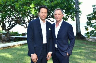 "(FILE) Director Cary Joji Fukunaga (L) and cast member Daniel Craig attend the ""Bond 25"" film launch at Ian Fleming's Home ÒGoldenEye"" on April 25, 2019 in Montego Bay, Jamaica.   (Slaven Vlasic/Getty Images for Metro Goldwyn Mayer Pictures/AFP)"