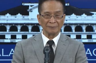 Presidential Spokesperson Salvador Panelo during his press briefing in Malacanang on Thursday, August 15, 2019.  (Photo grabbed from RTVM video/Courtesy RTVM)