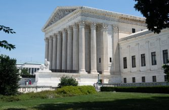 (FILES) In this file photo taken on June 24, 2019 the US Supreme Court is seen in Washington, DC. - The US Supreme Court on September 11, 2019, allowed asylum restrictions by President Donald Trump's administration to take effect, preventing most Central American migrants from applying at the US border. (Photo by SAUL LOEB / AFP)
