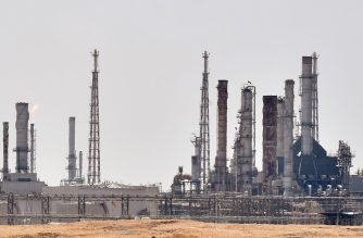A picture taken on September 15, 2019 shows an Aramco oil facility near al-Khurj area, just south of the Saudi capital Riyadh. - Saudi Arabia raced today to restart operations at oil plants hit by drone attacks which slashed its production by half, as Iran dismissed US claims it was behind the assault. The Tehran-backed Huthi rebels in neighbouring Yemen, where a Saudi-led coalition is bogged down in a five-year war, have claimed thi weekend's strikes on two plants owned by state giant Aramco in eastern Saudi Arabia. (Photo by FAYEZ NURELDINE / AFP)