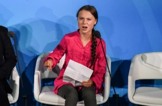 NEW YORK, NY - SEPTEMBER 23: Youth activist Greta Thunberg speaks at the Climate Action Summit at the United Nations on September 23, 2019 in New York City. While the United States will not be participating, China and about 70 other countries are expected to make announcements concerning climate change. The summit at the U.N. comes after a worldwide Youth Climate Strike on Friday, which saw millions of young people around the world demanding action to address the climate crisis.   Stephanie Keith/Getty Images/AFP