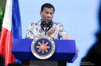 "(File photo) President Rodrigo Duterte delivers his speech during the inauguration of the Bataan Government Center and Business Hub ""The Bunker"" in Balanga City, Bataan on September 12, 2019. TOTO LOZANO/PRESIDENTIAL PHOTO"