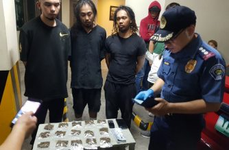 Police seized P100,000 worth of high-grade marijuana from the suspects./PNP/