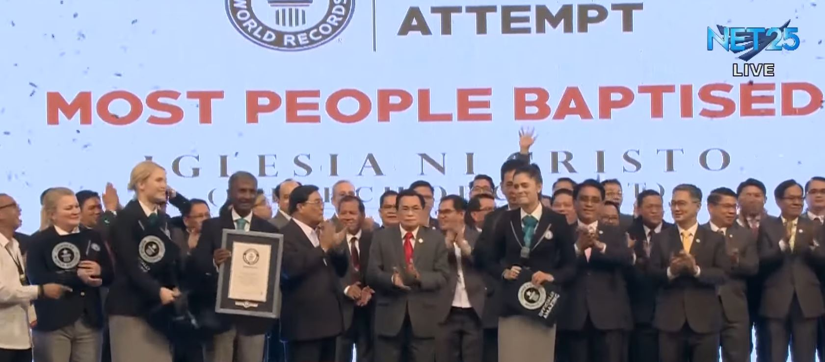 "Iglesia Ni Cristo Grand Baptism sets new world record for ""most people baptized"" at 18,272"