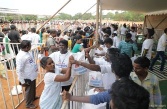 The Iglesia Ni Cristo (Church Of Christ) distributed thousands of goodwill bags of food and grocery items during its Aid to Humanity tour in India which started on Friday, Sept. 27, 2019.  (Eagle News Service/Photo courtesy FYM Foundation)
