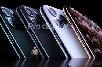 Apple's senior vice president of worldwide marketing Phil Schiller talks about the new iPhone 11 Pro during an Apple special event on September 10, 2019 in Cupertino, California. (Justin Sullivan/Getty Images/AFP)