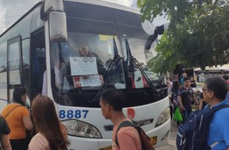 Buses offering free rides were deployed by the Land Transportation Franchising and Regulatory Board (LTFRB) on Monday, Sept. 30, 2019 to help commuters affected by the transport strike.  (Photo courtesy LTFRB facebook page)