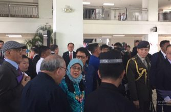 Singapore President Her Excellency Halimah Yacob visits Ateneo de Davao University on Wednesday, Sept. 11, 2019.  (Photo by  Vhea Sumarca, Eagle News Service correspondent in Davao City/Eagle News Service)