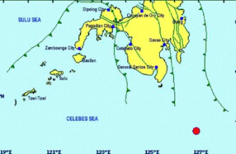 4.9-magnitude quake strikes off Davao Occidental