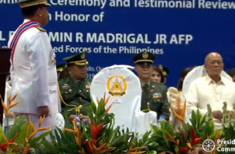 President Rodrigo Duterte skipped the AFP change of command ceremonies on Tuesday, Sept. 24. Attending in his place was Defense Secretary Delfin Lorenzana, the Philippine Communications Operations Office said./PCOO/