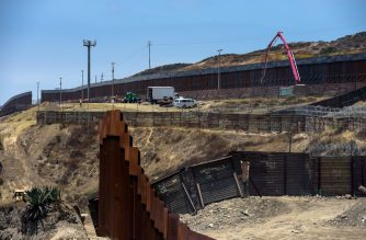 (FILES) View of the Mexico-US wall in Tijuana, Baja California, Mexico. (Photo taken on June 18, 2019 by Agustin PAULLIER / AFP)