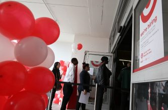 (FILES) In this file photo taken on August 15, job seekers enter a job fair at a new Target retail store in San Francisco, California. - The US jobs engine cooled in August as hiring slowed across industrial sectors, another sign that the world's largest economy could be weakening, government data showed on September 6, 2019. The surprisingly weak result confirmed that labor markets in 2019 have softened from their brisk pace last year, raising the prospect that President Donald Trump's record as a job creator could wane as next year's elections approach. Employers added 130,000 net new positions for the month, far lower than analyst forecasts, while the jobless rate held steady at 3.7 percent and wages rose, according to Labor Department estimates. (Photo by JUSTIN SULLIVAN / GETTY IMAGES NORTH AMERICA / AFP)