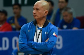 Gilas Pilipinas coach Yeng Guiao resigns after the Philippine team finished last in the  last FIBA World Cup (Photo courtesy Gilas Pilipinas Facebook page)