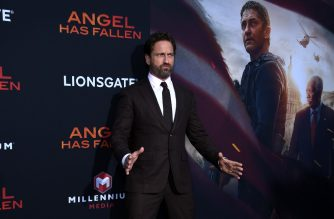 "(FILES) In this file photo taken on August 20, 2019 Scottish actor Gerard Butler arrives for the Los Angeles premiere of ""Angel Has Fallen"" at the Regency Village theater in Westwood, California.  (Photo by VALERIE MACON / AFP)"