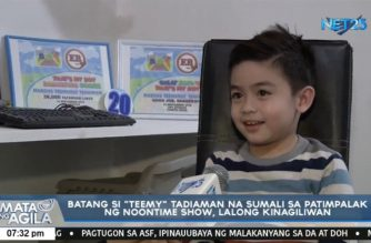"Getting to know ""Teemy"" Tadiaman, the five year-old kid who won hearts after appearing in a noontime show"