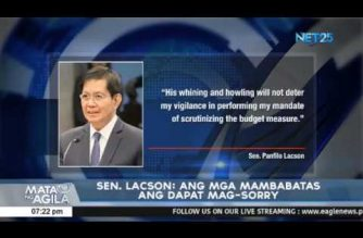 """Lacson says he'll continue probe on alleged """"pork"""" insertion attempt by the Lower House in nat'l budget"""