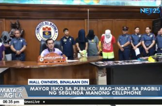 Manila mayor Moreno threatens to close malls, stores selling stolen cellphones