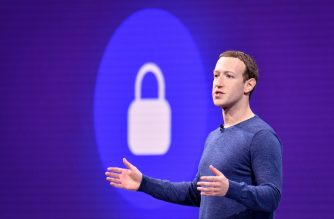 "(FILES) In this file photo taken on May 1, 2018 Facebook CEO Mark Zuckerberg speaks during the annual F8 summit at the San Jose McEnery Convention Center in San Jose, California. - Facebook chief Mark Zuckerberg has pledged to ""go to the mat"" to fight a government attempt to break up the social media giant, according to a report on October 1, 2019 based on a leaked audio recording.Tech news site The Verge released leaked audio from a meeting of Facebook employees in July in which Zuckerberg said he would challenge a breakup effort, repeating his argument that splitting the company would not address issues raised by critics. (Photo by JOSH EDELSON / AFP)"