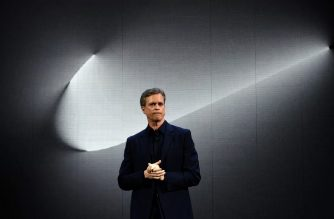 "(FILES) In this file photo taken on March 16, 2016 Nike president and CEO Mark Parker reveals their latest innovative sports products during an event in New York. - Nike never participated in efforts to ""systematically dope"" runners, CEO Mark Parker said in an email obtained by AFP on October 2, 2019 after sponsored coach Alberto Salazar was given a four-year ban for doping. (Photo by Jewel SAMAD / AFP)"