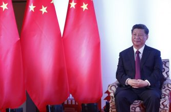 "In this handout photograph released by the The Rising Nepal newspaper and taken on October 13, 2019, China's President Xi Jinping looks on as he attends a bilateral meeting in Kathmandu. - Nepal rolled out the red carpet on October 12 for China's President Xi Jinping but rounded up Tibetans to prevent protests during the first state visit by a Chinese leader in 23 years. (Photo by Handout / The Rising Nepal / AFP) / RESTRICTED TO EDITORIAL USE - MANDATORY CREDIT ""AFP PHOTO / THE RISING NEPAL"" - NO MARKETING - NO ADVERTISING CAMPAIGNS - DISTRIBUTED AS A SERVICE TO CLIENTS"